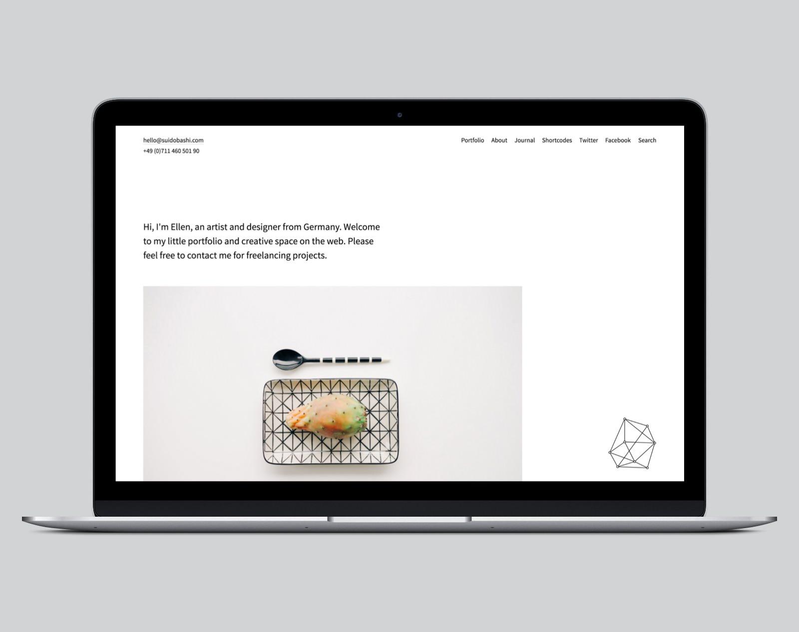 Suidobashi WordPress Portfolio Theme