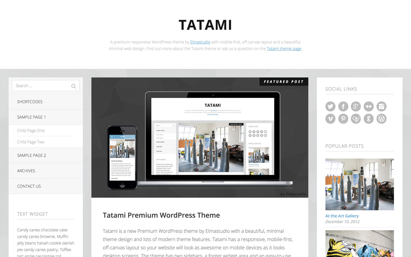 Tatami WordPress Theme