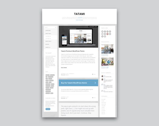 Tatami WordPress Blog Theme