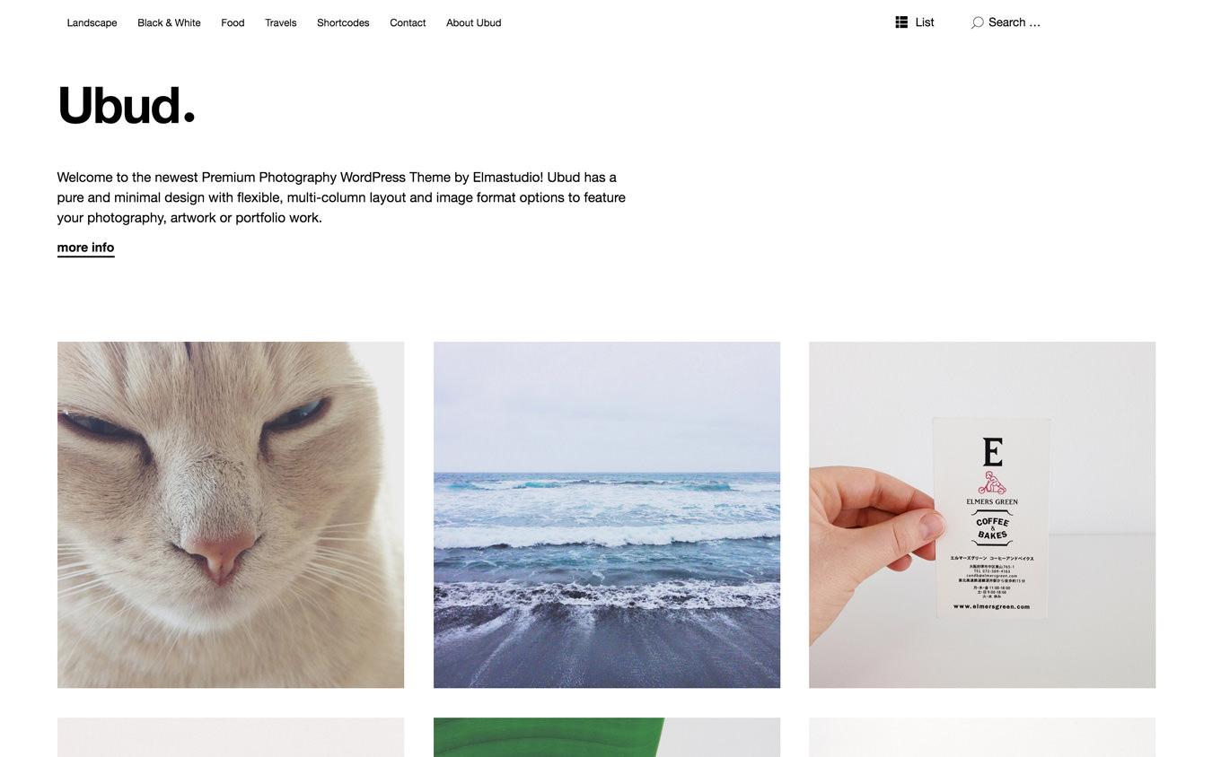 Ubud WordPress Theme