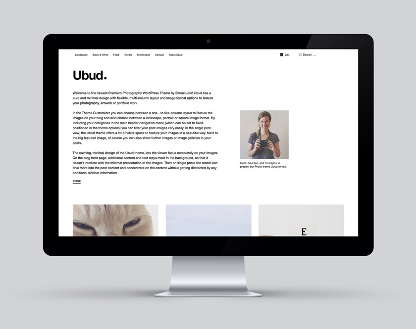 Ubud Fotografie WordPress Theme