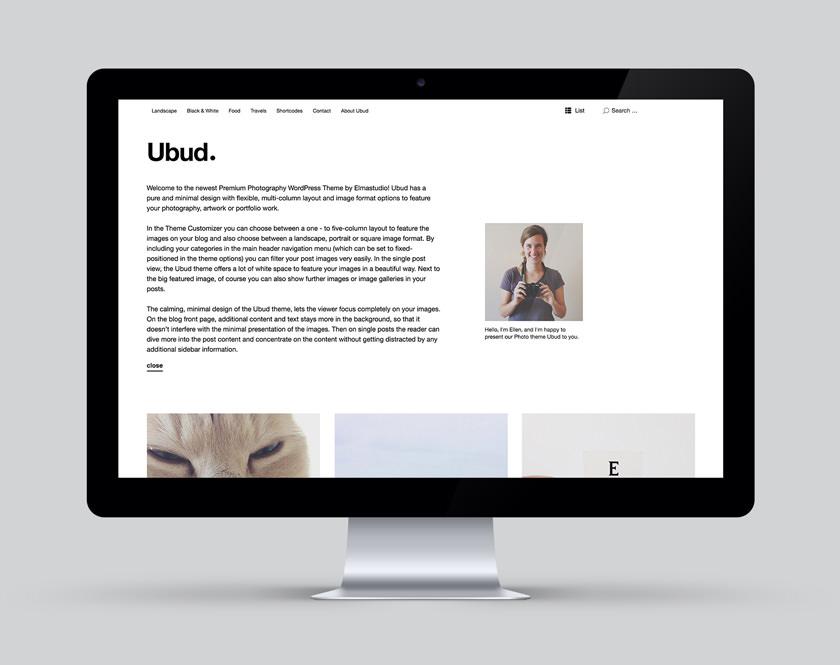 Ubud WordPress Photography Theme