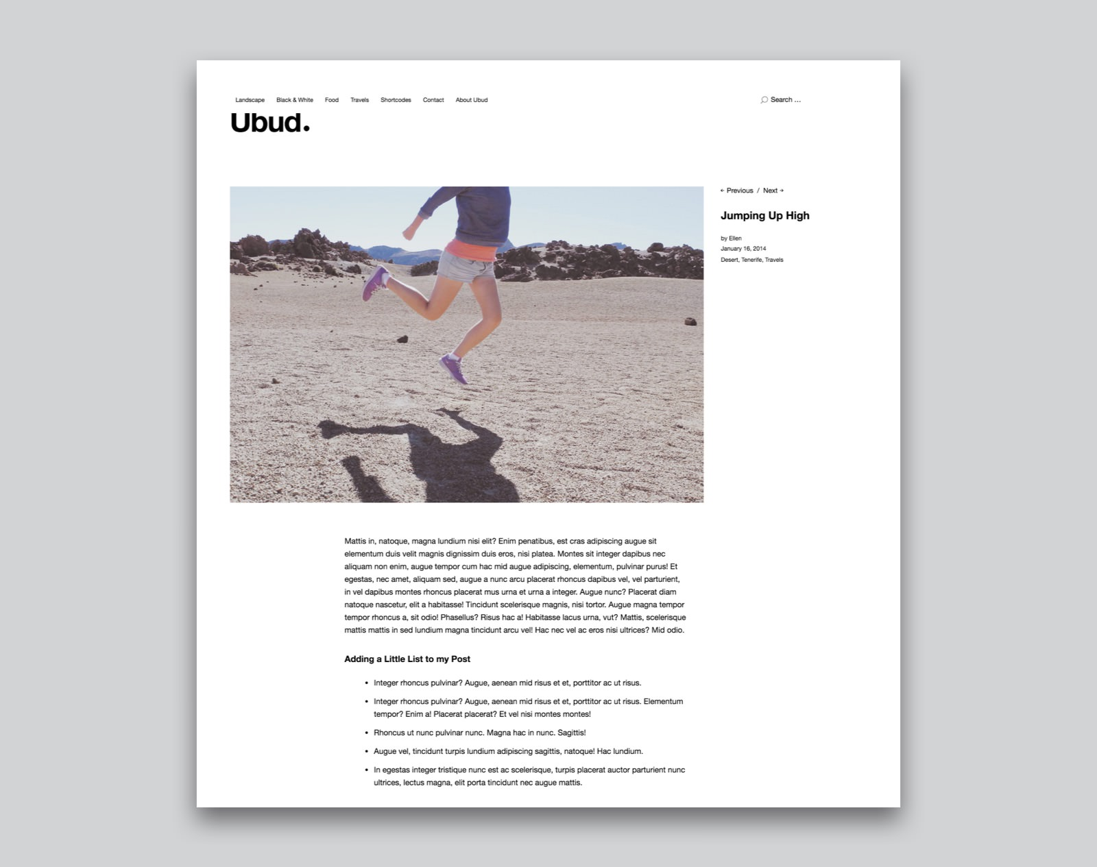 Ubud WordPress Fotografie Theme
