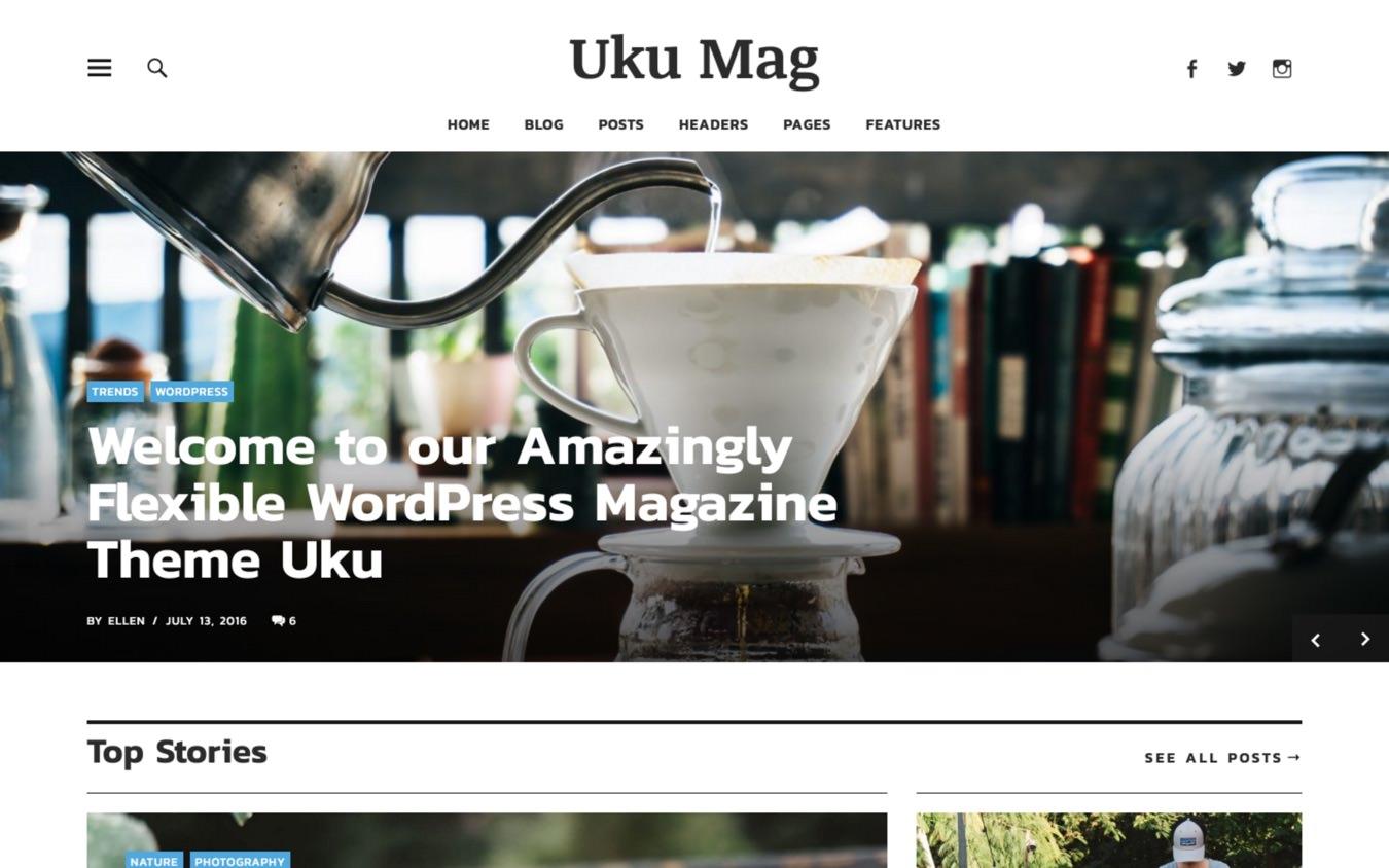 Uku WordPress Theme