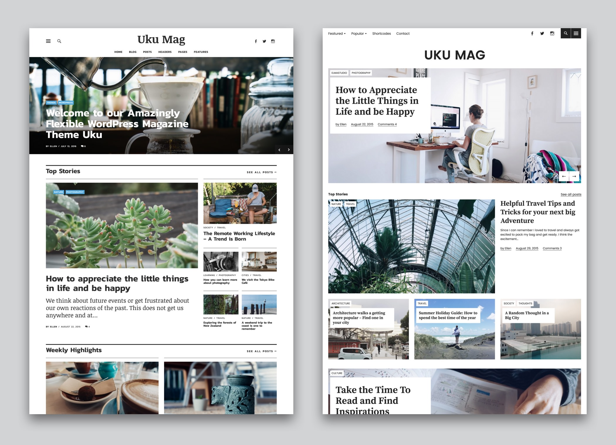 Uku Premium Magazin und Blog WordPress Theme