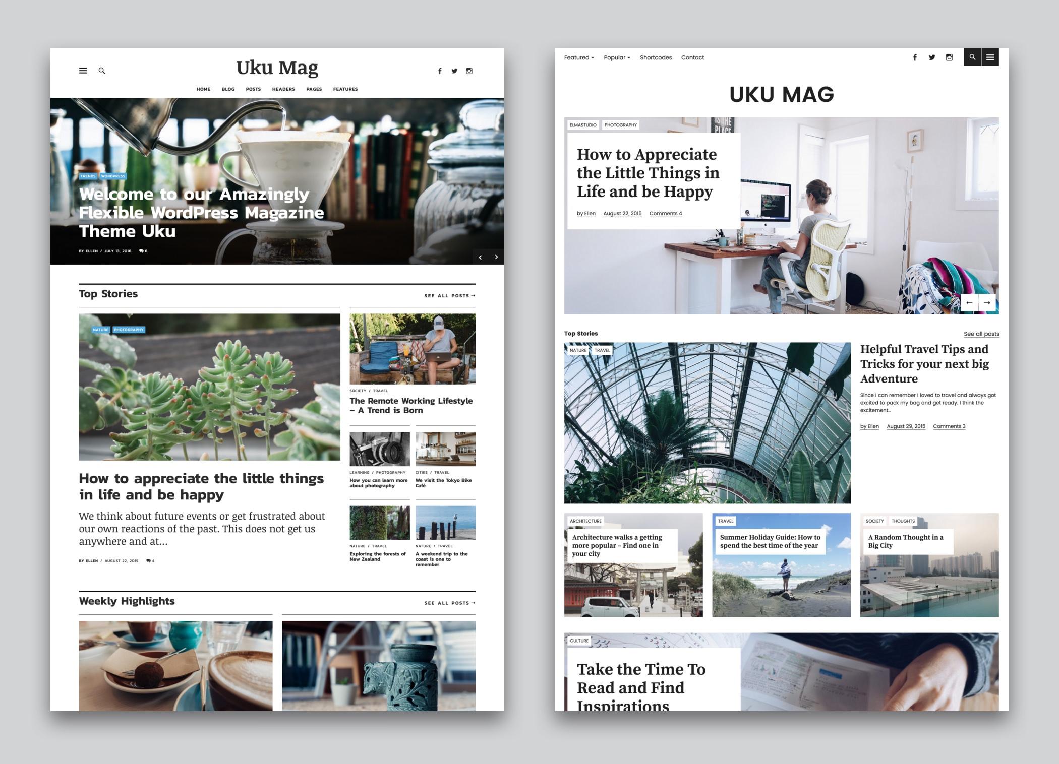 Uku Premium responsive Magazine and Blog WordPress Theme