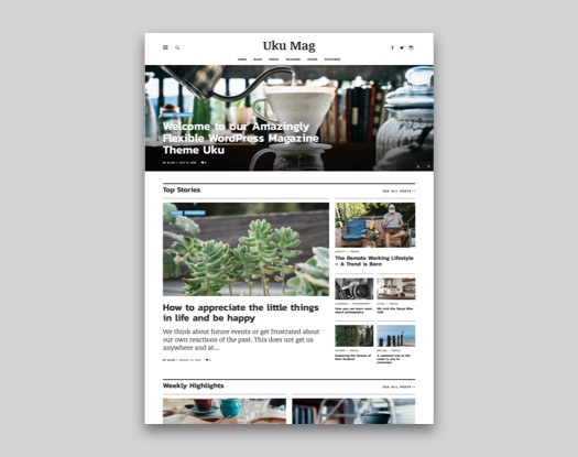 Uku WordPress Magazin und Blog Theme