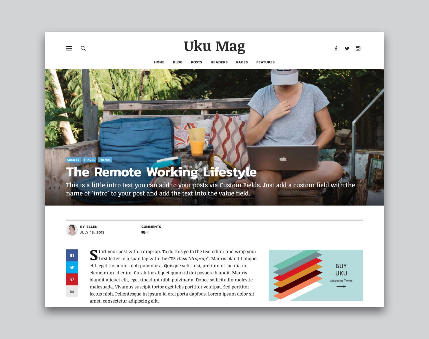 Uku WordPress eCommerce Theme