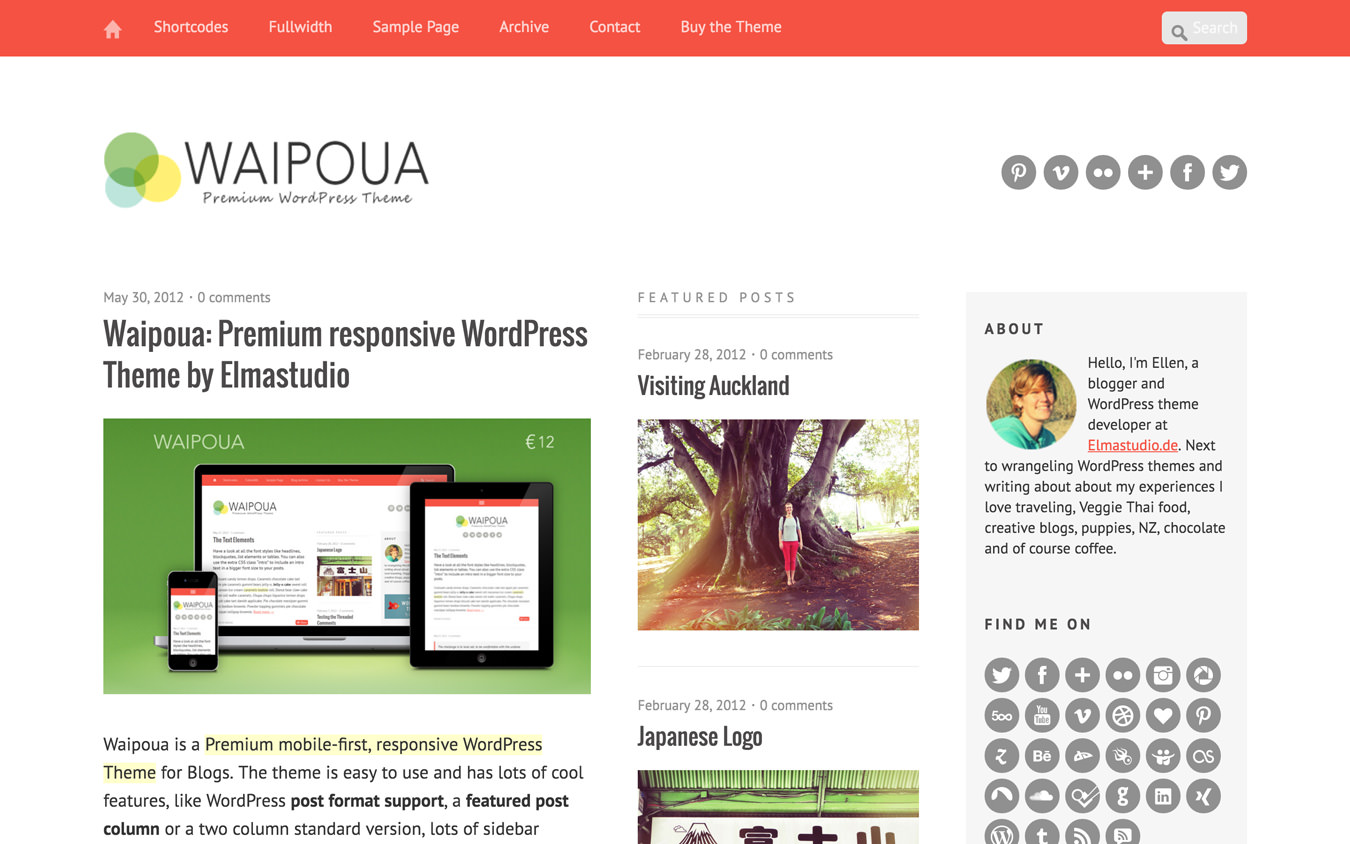 Waipoua WordPress Theme