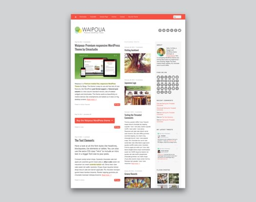 Waipoua WordPress Blog Theme