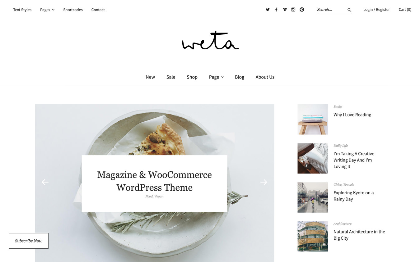 Weta WordPress Theme
