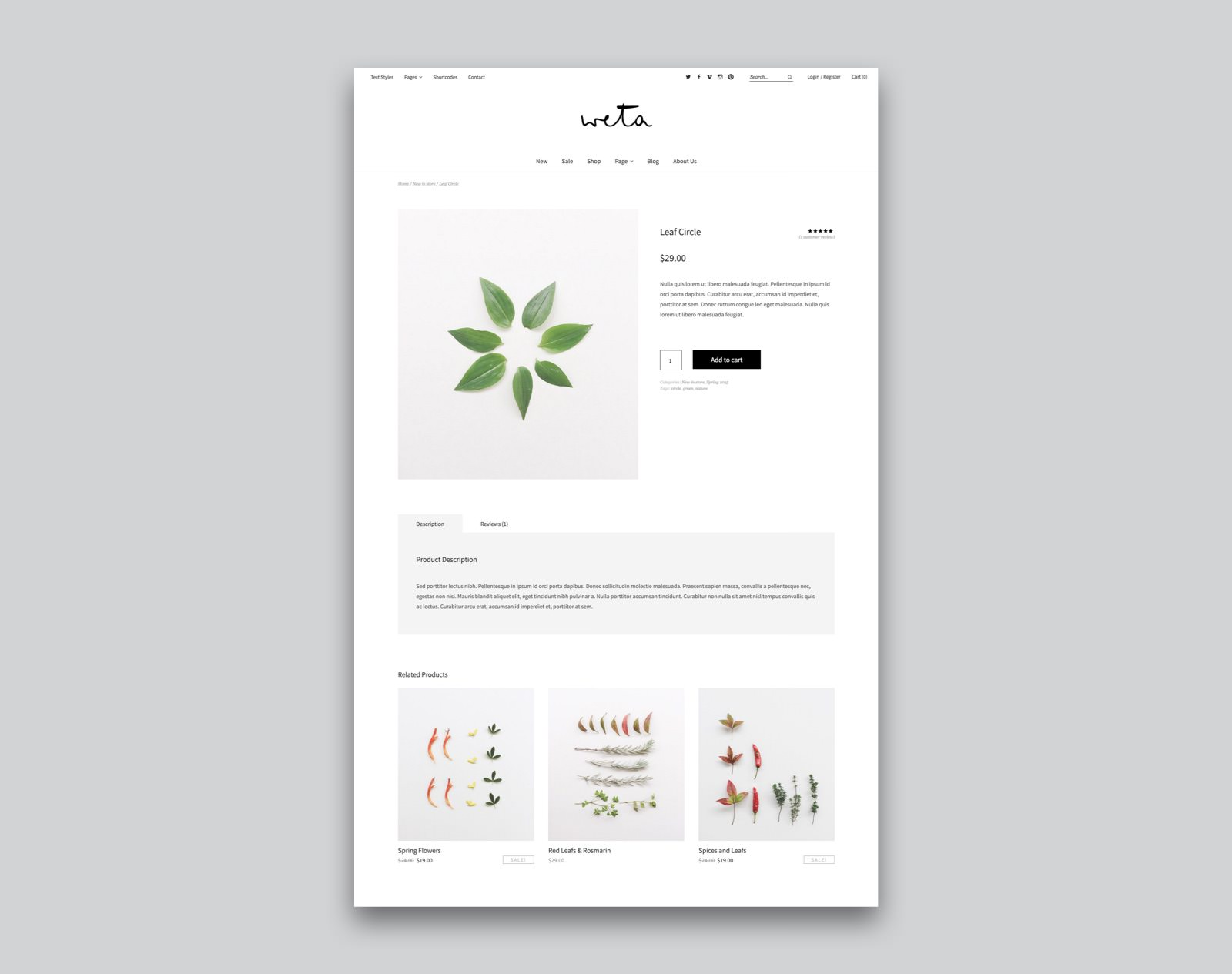 Weta WordPress Magazin eCommerce Theme