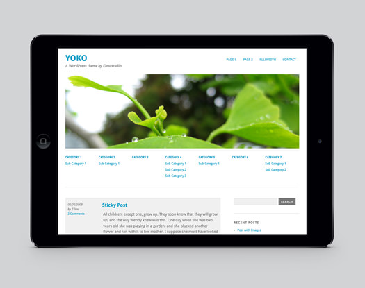Yoko Free WordPress Blog Theme
