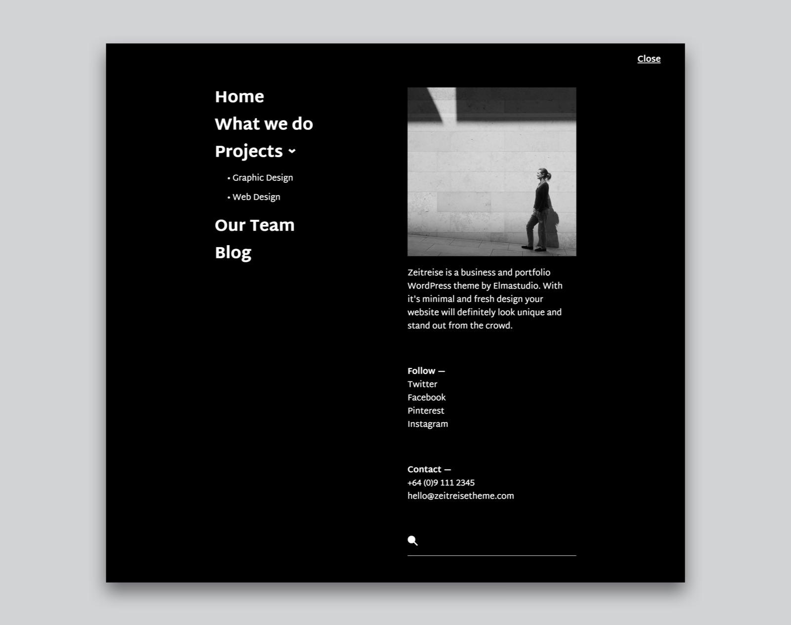 Zeitreise WordPress Business Portfolio Theme