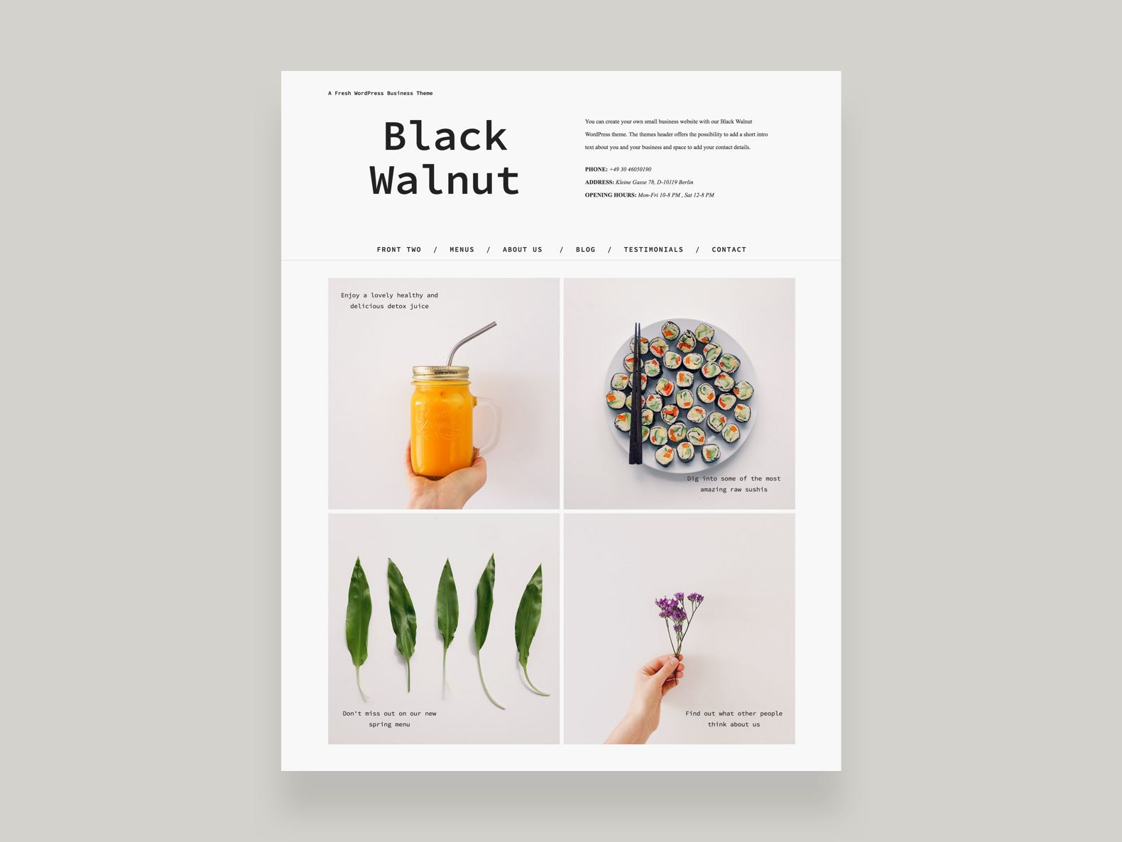 Black Walnut WordPress Business Blog Theme