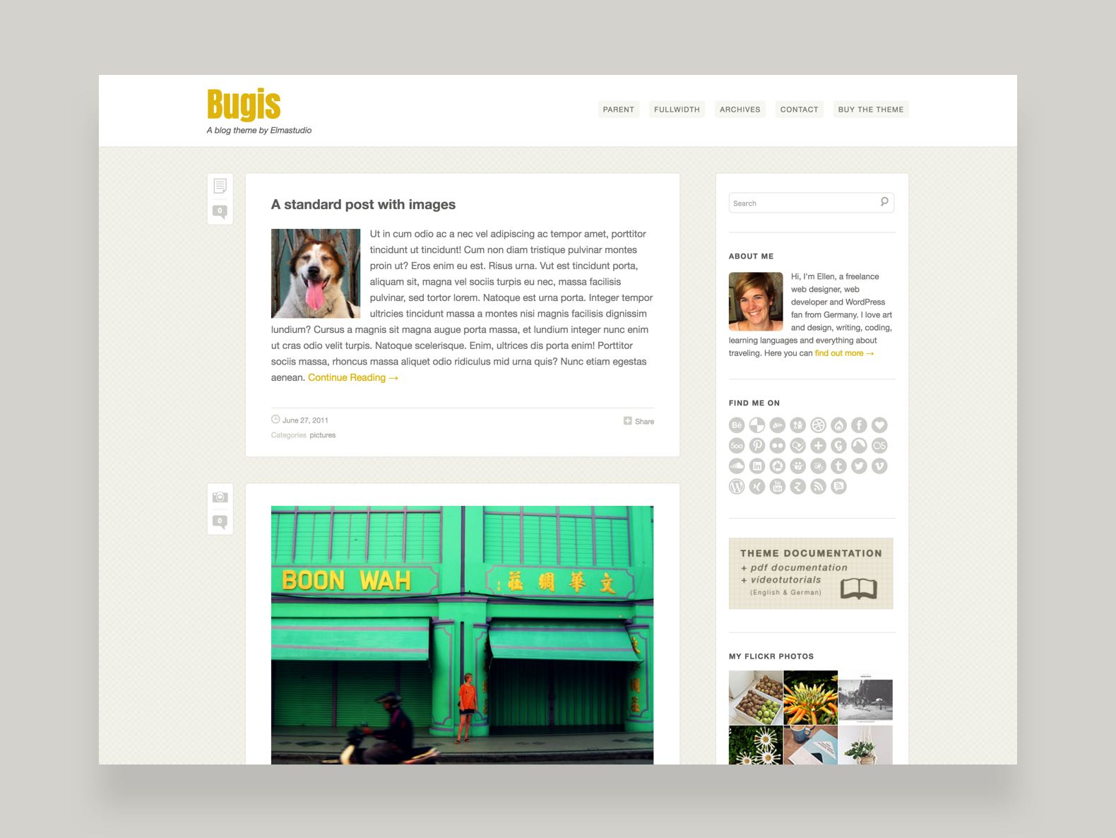 Bugis WordPress Blog Theme