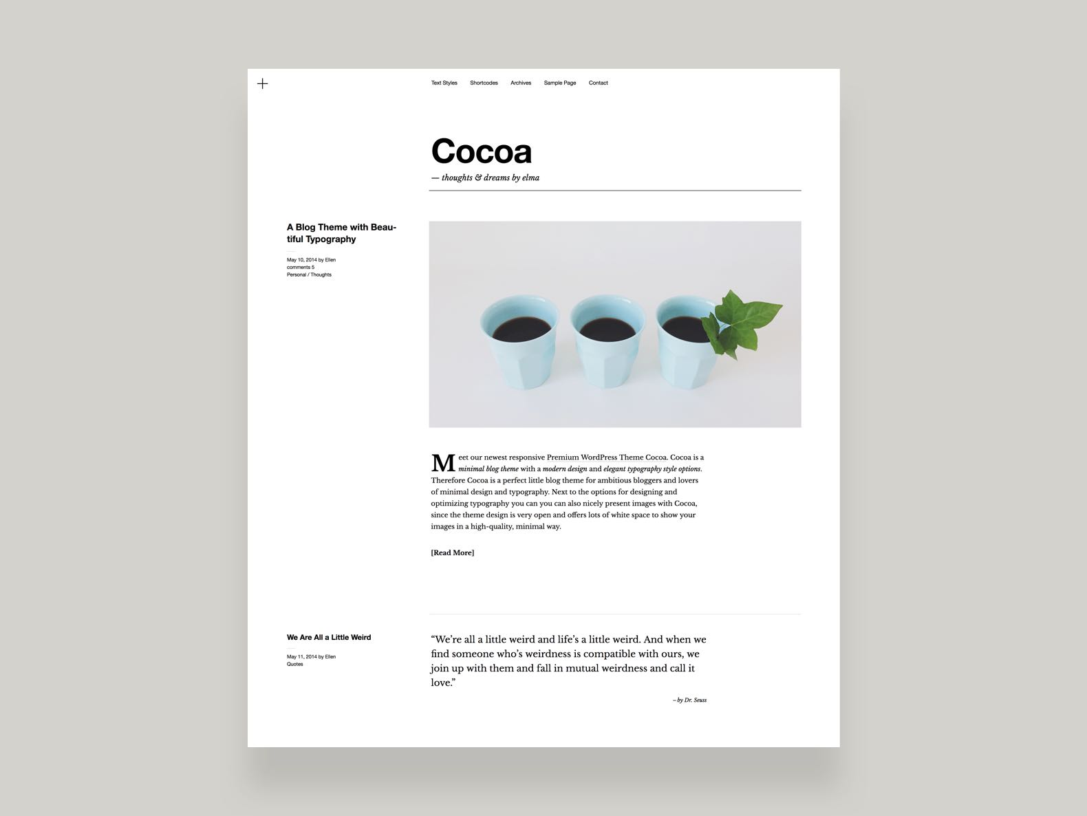 Cocoa WordPress Blog Theme
