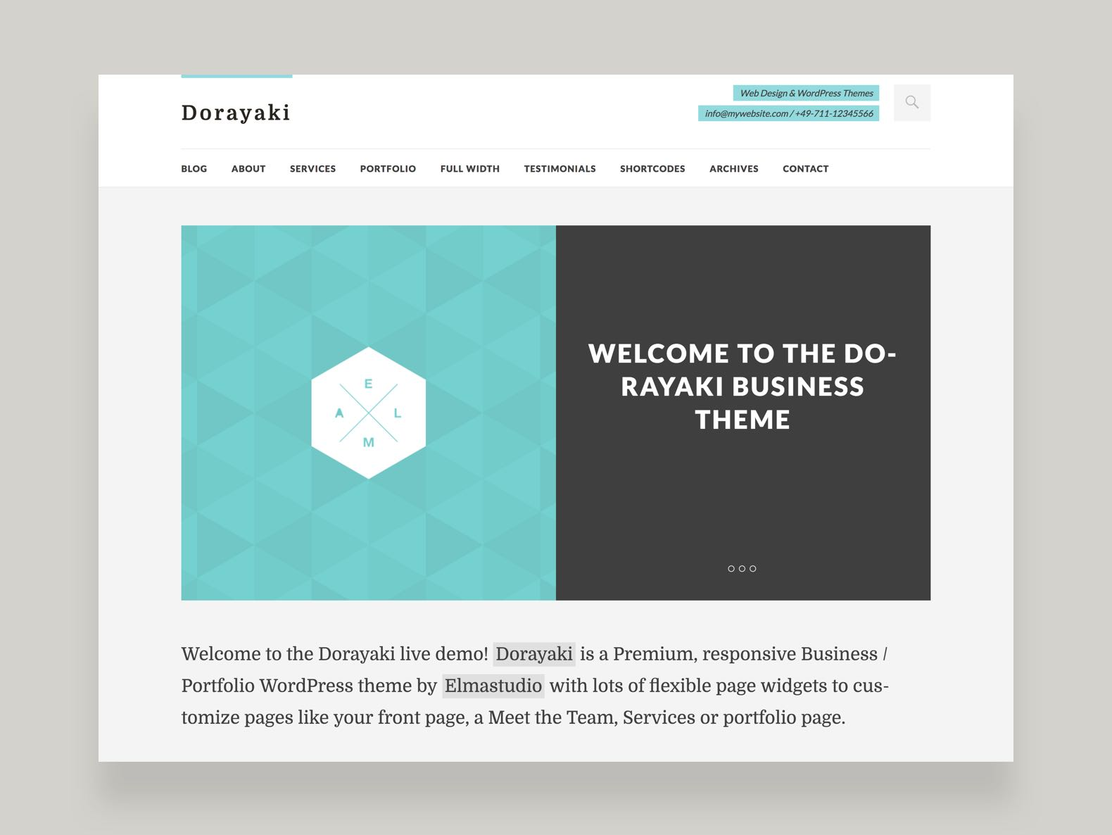 Dorayaki WordPress Business Theme