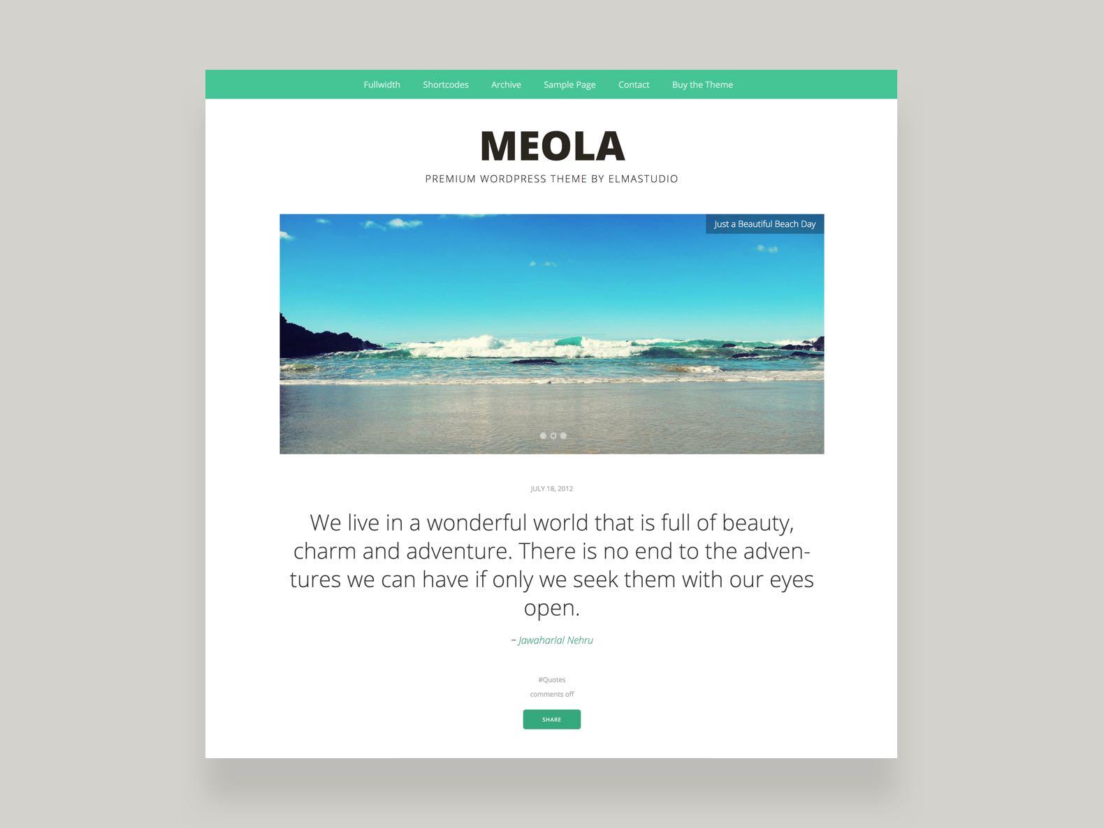 Meola WordPress Blog Theme