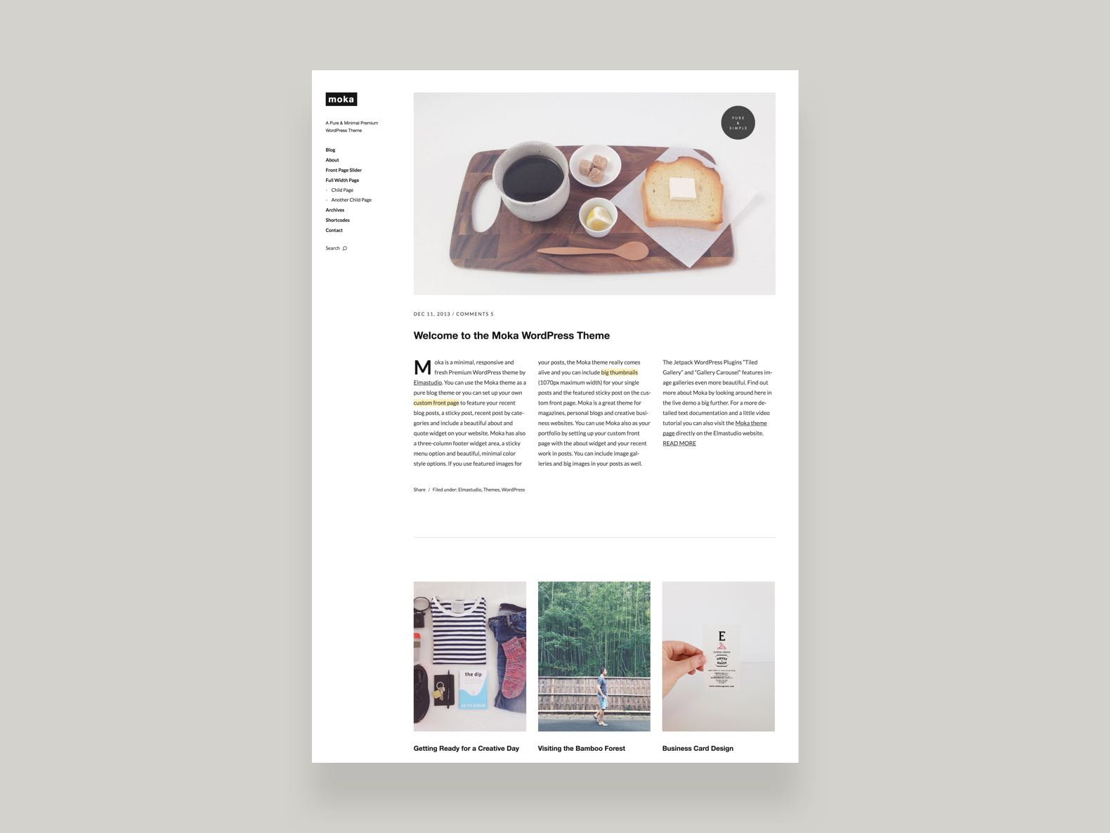 Moka wordpress theme elmastudio moka wordpress magazine theme reheart Gallery