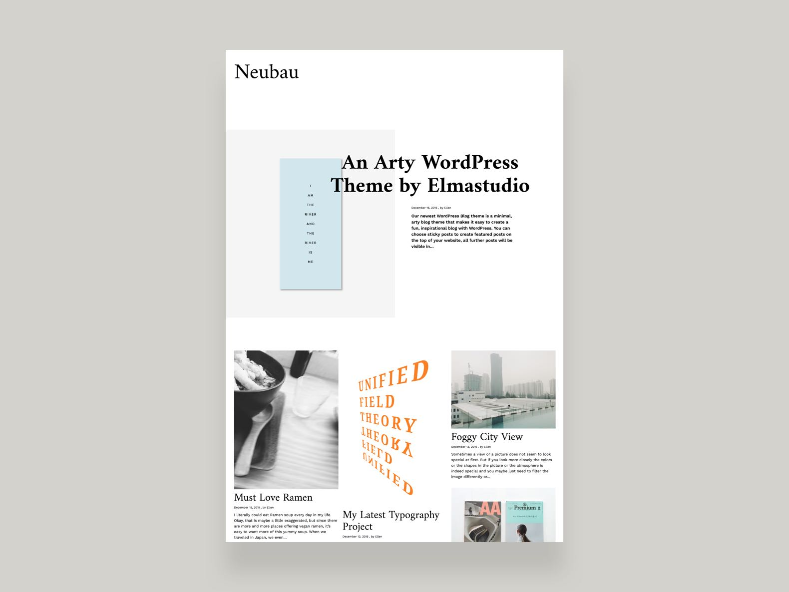 Neubau Blog WordPress theme