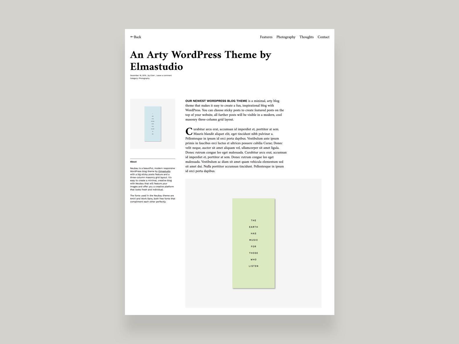 Neubau WordPress Theme – Elmastudio