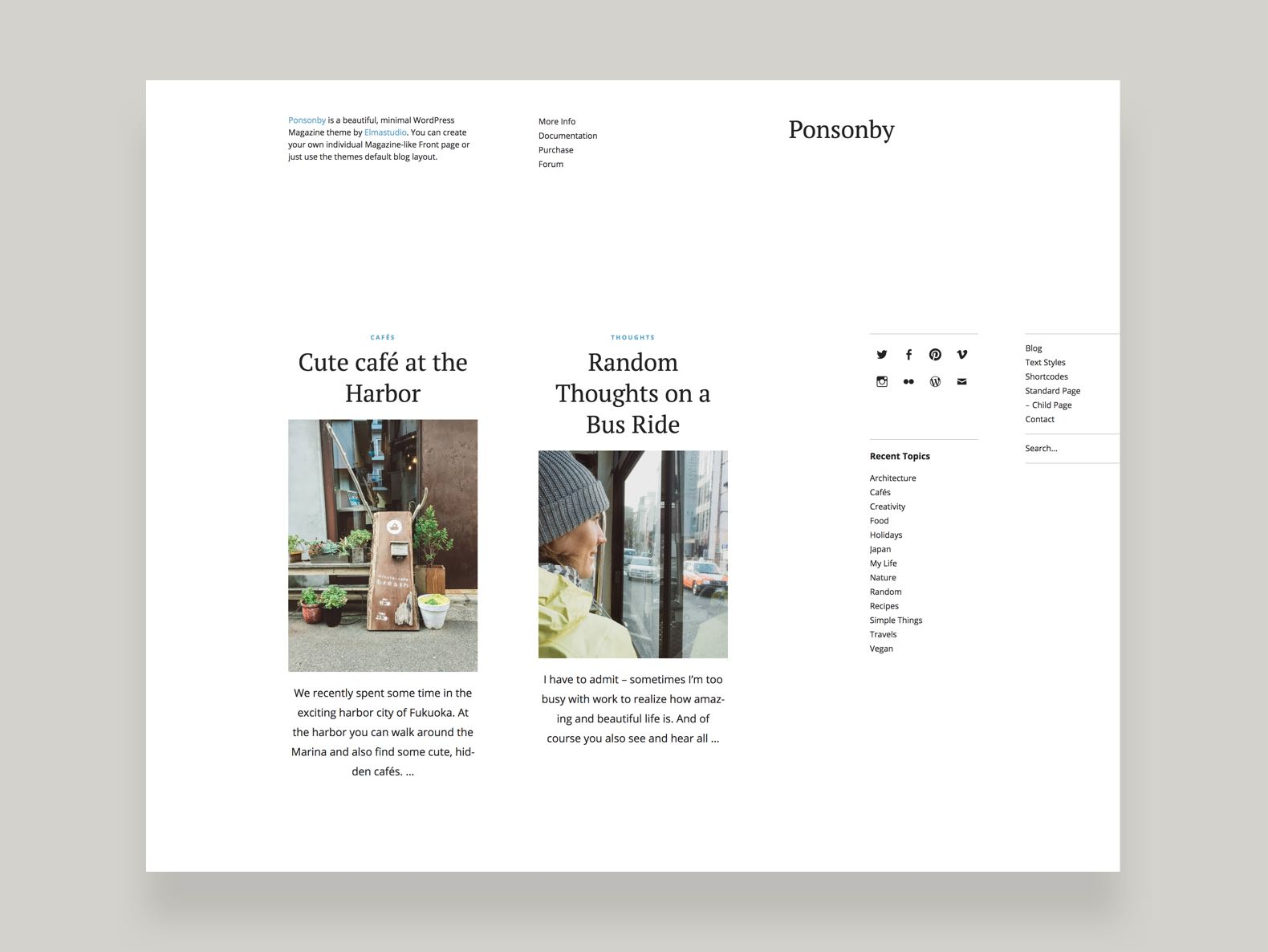 Ponsonby WordPress Magazine Blog Theme