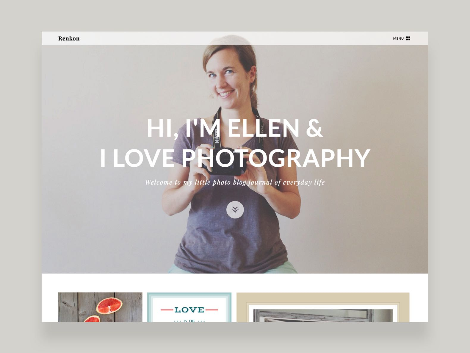 Renkon WordPress Fotografie Blog Theme