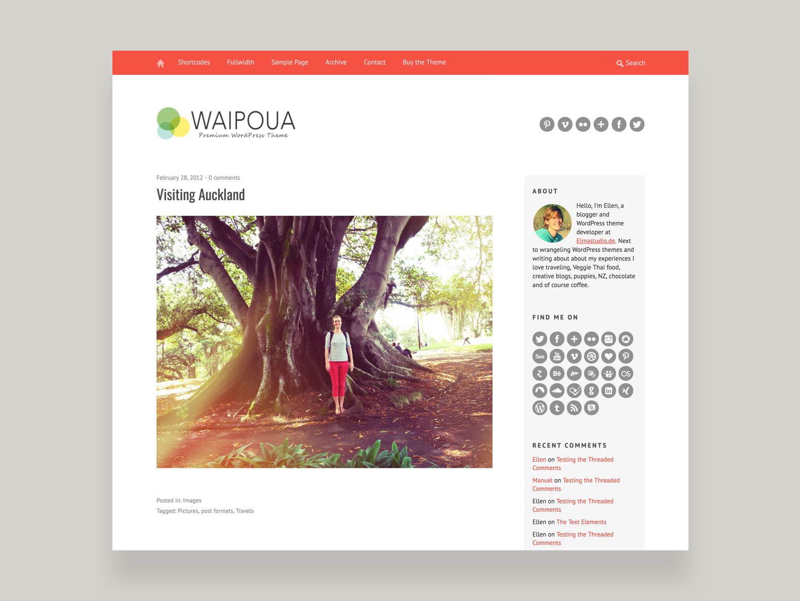 Waipoua WordPress Theme – Elmastudio