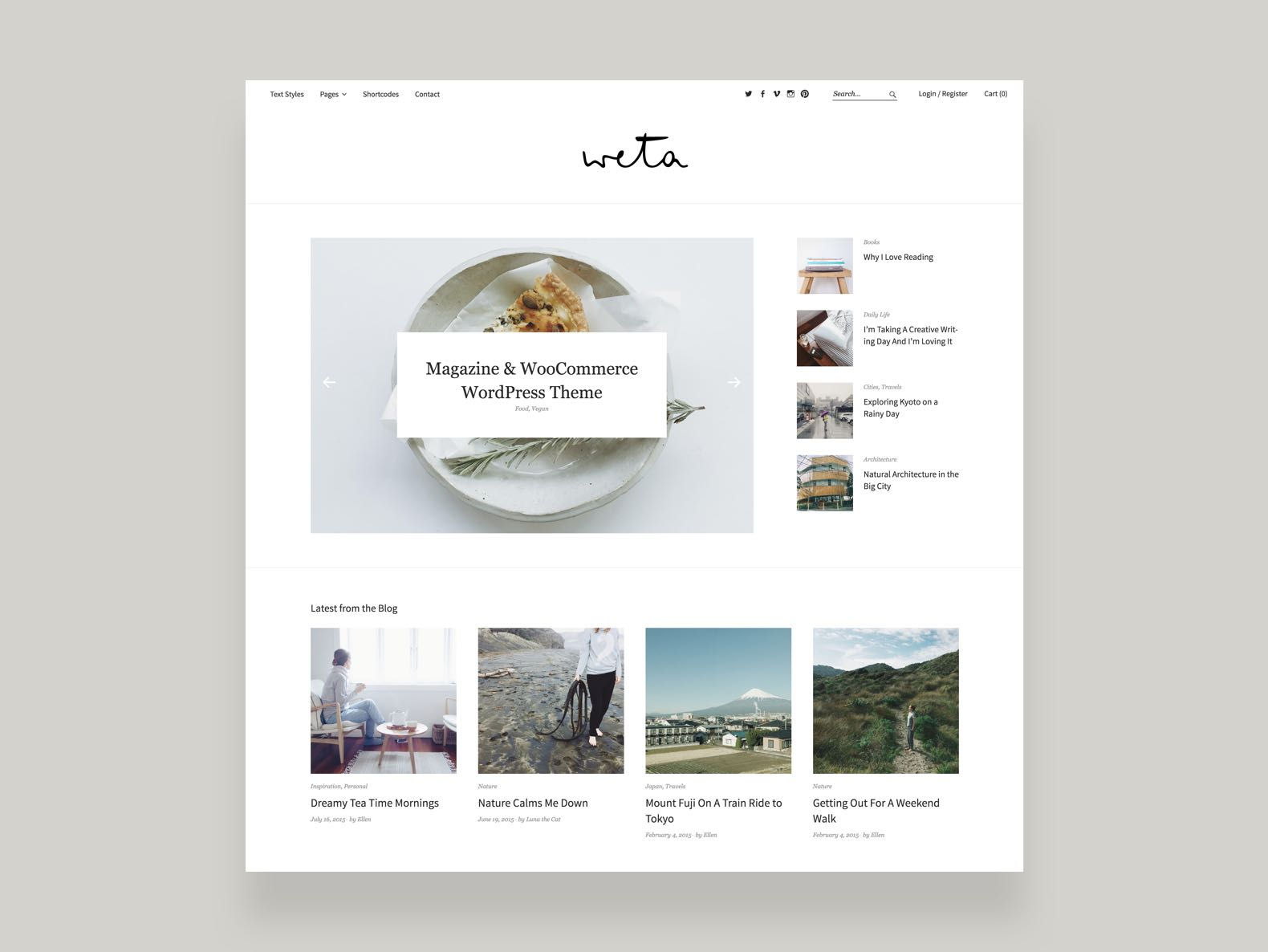 Weta WordPress Magazine Ecommerce Theme