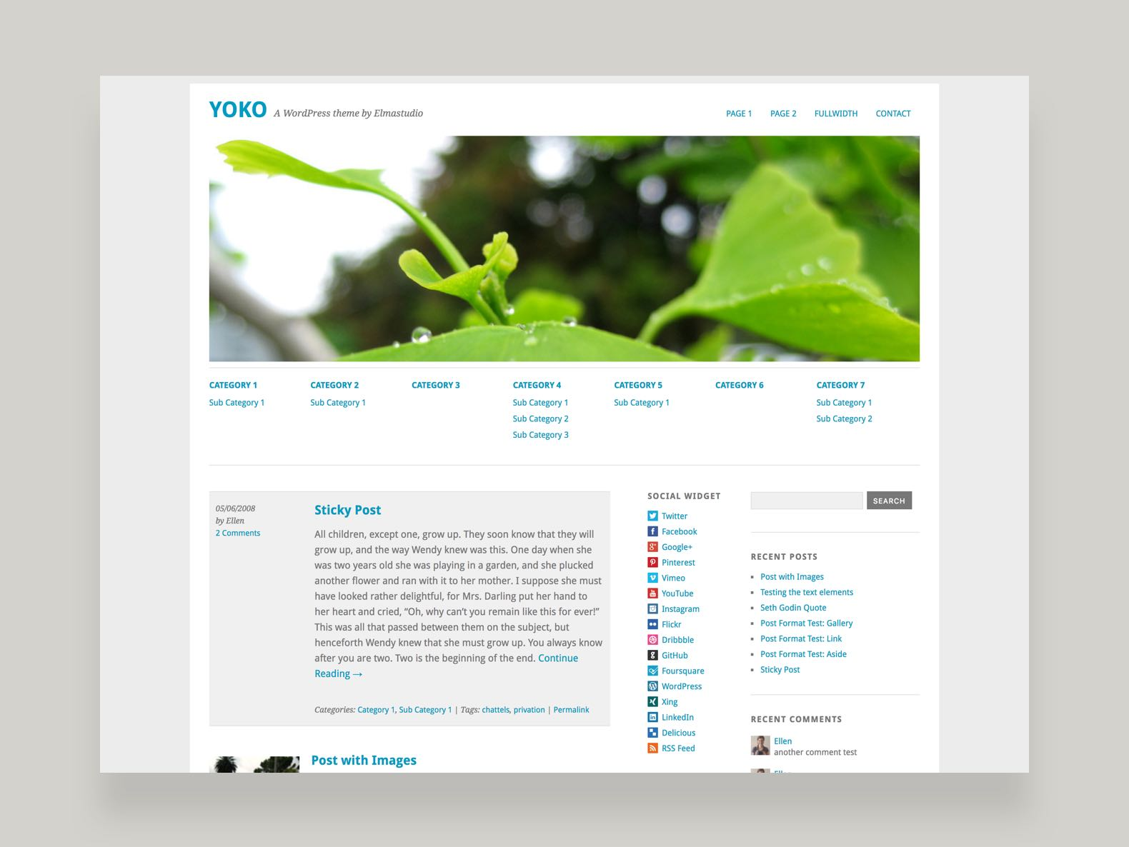 Yoko WordPress Blog Theme