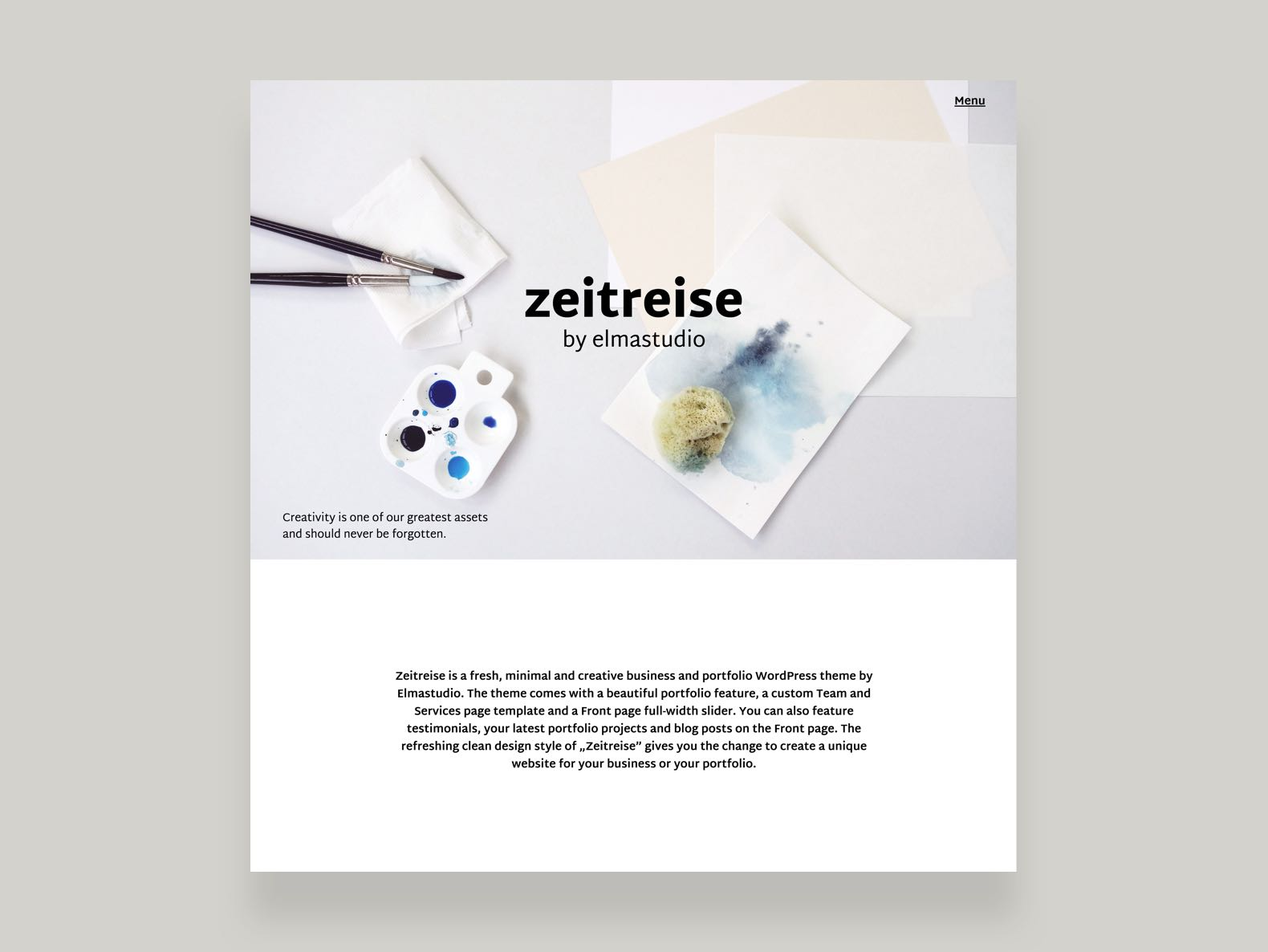 Zeitreise Business Portfolio WooCommerce theme