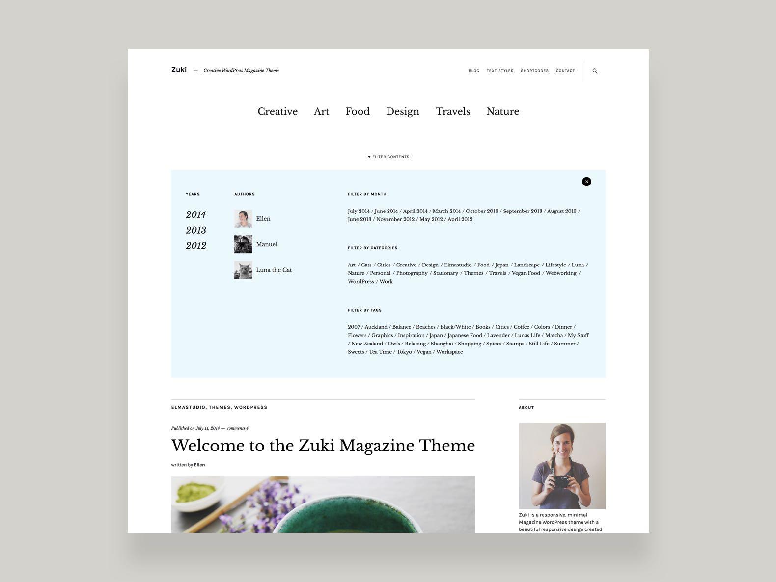 Zuki Wordpress Theme Elmastudio