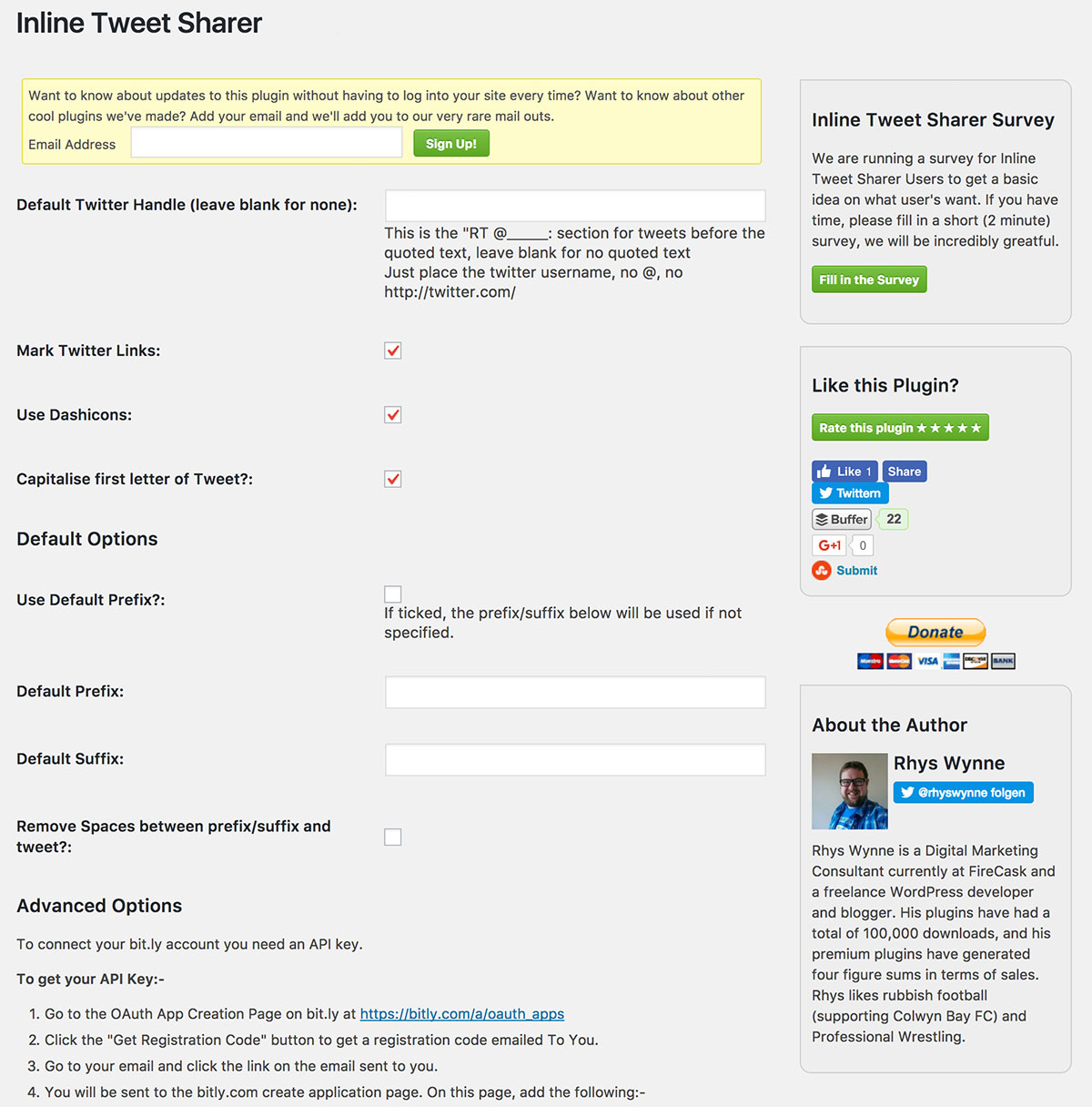 Adding options to WordPress plugins
