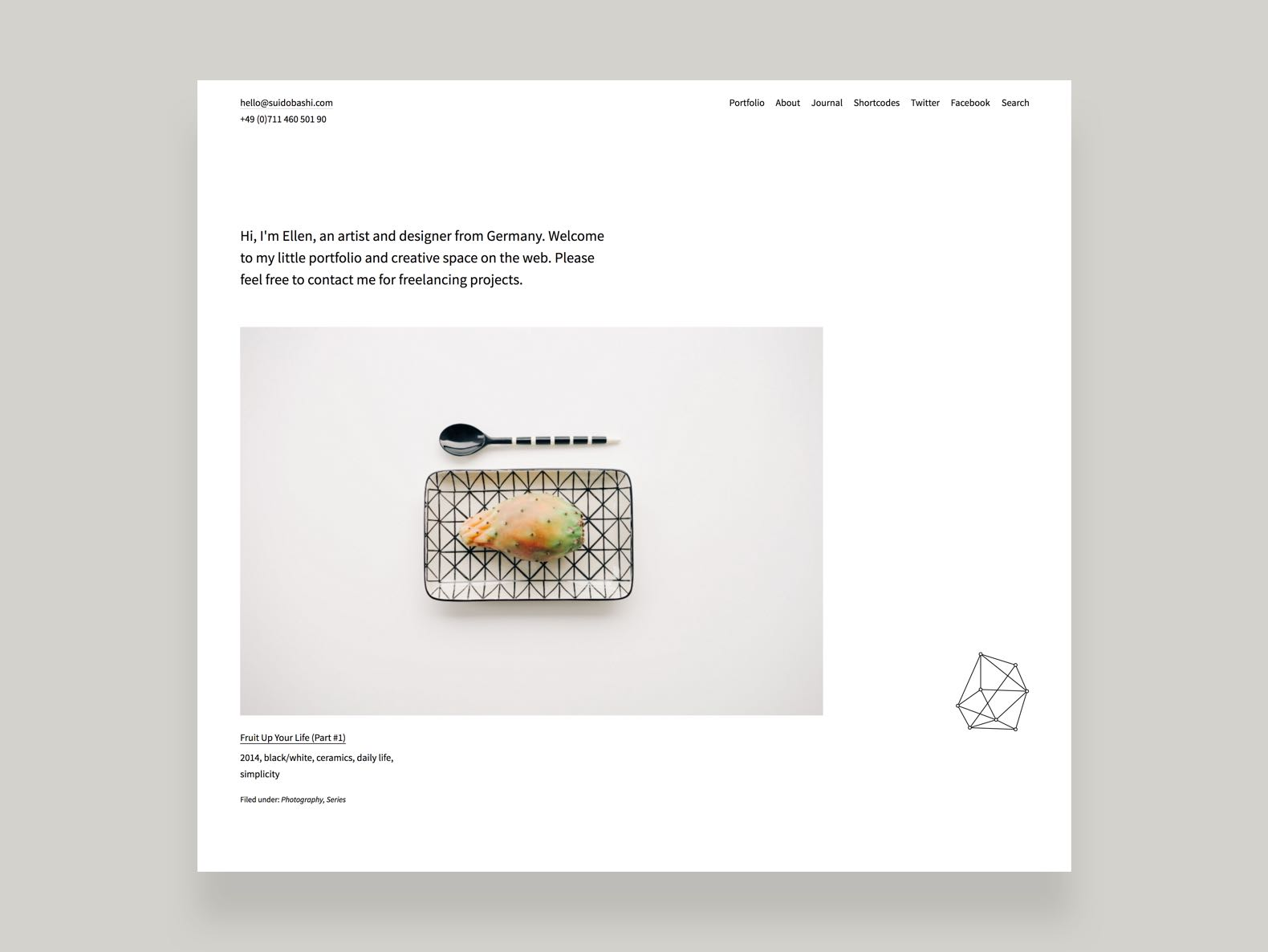Suidobashi Portfolio WordPress theme