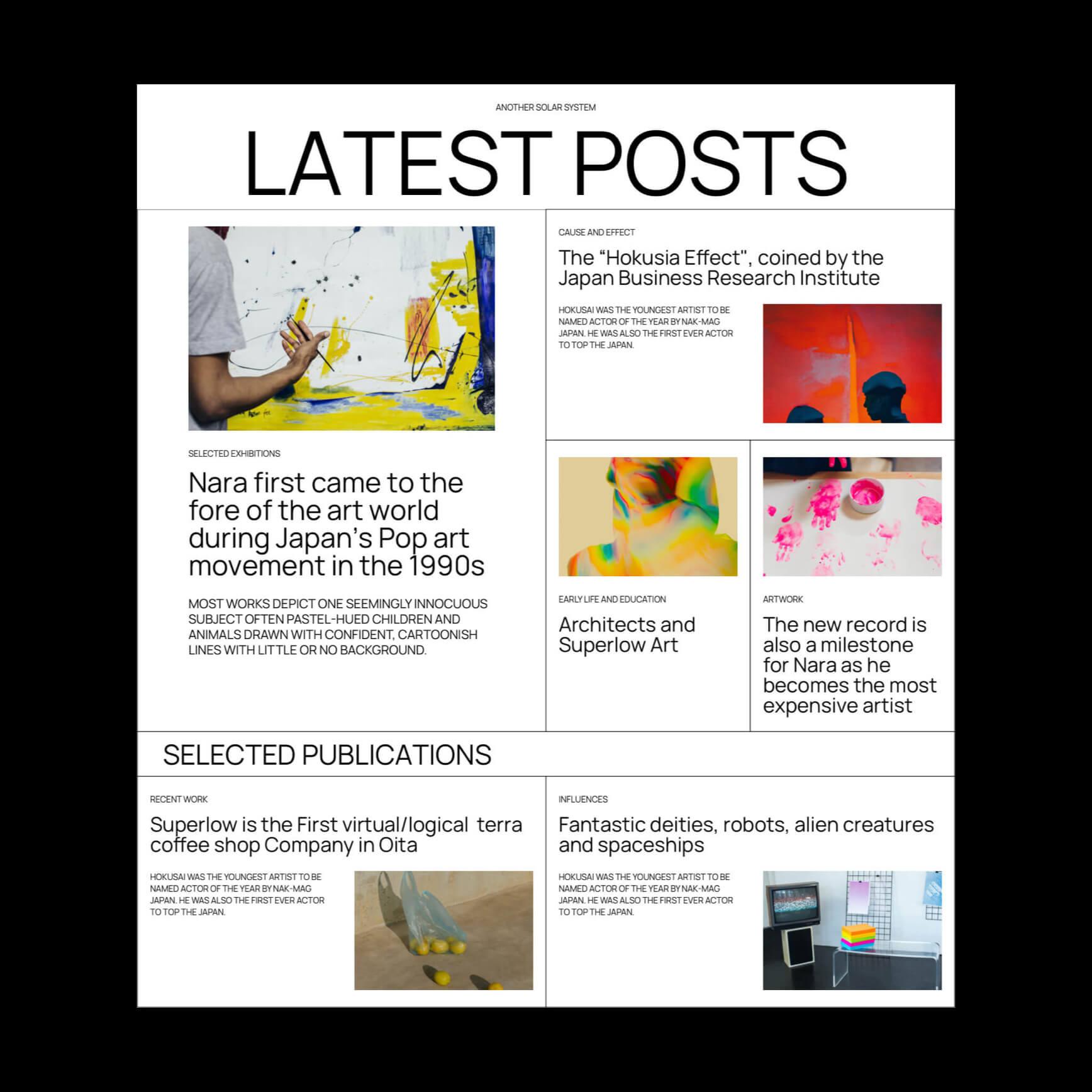 Latest posts block pattern