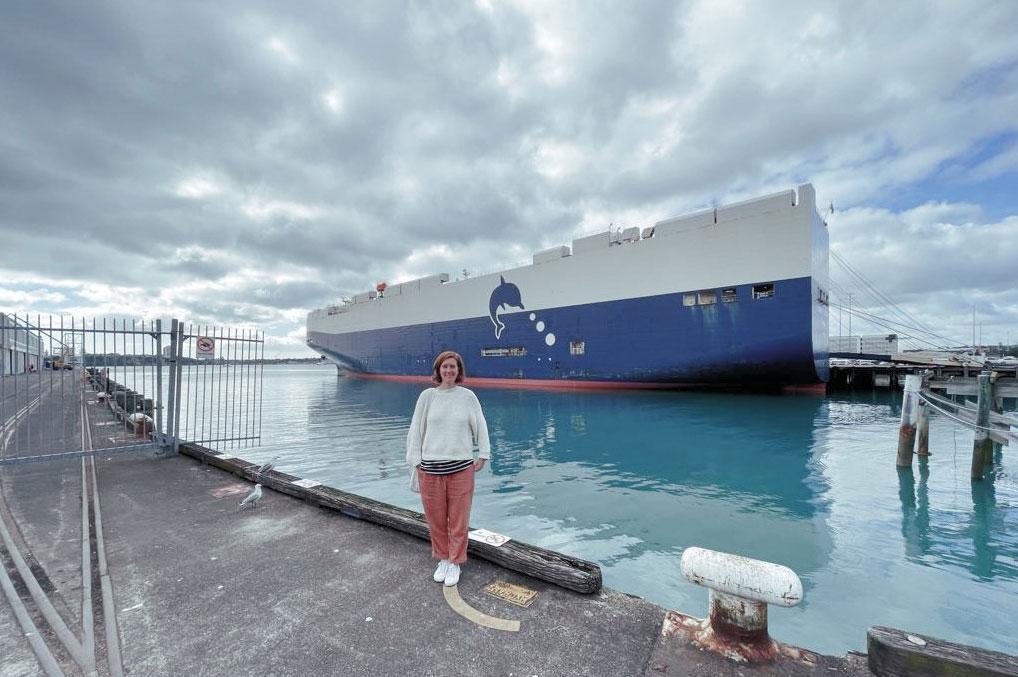 Ellen am Hafen in Auckland