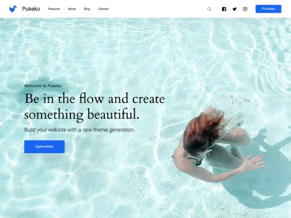 WordPress Theme Pukeko