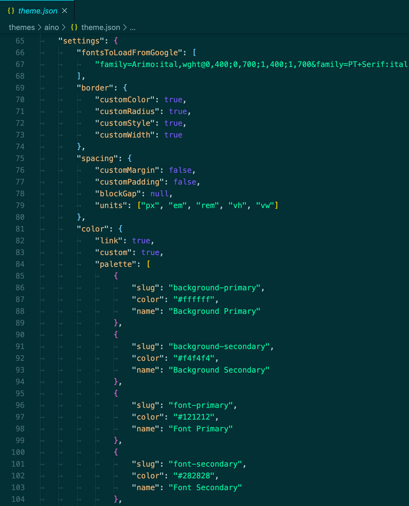 The theme.json file is the most important file in block themes.
